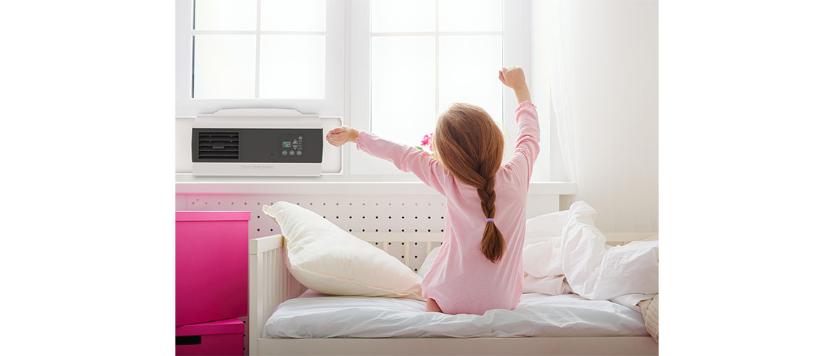 New EcoBreeze 2 The Smart Window Fan; automates Fresh air Cooling and filters